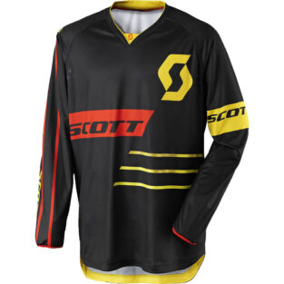 Motokrosový dres SCOTT 350 Dirt MXVII Black-Yellow - XXL (58)